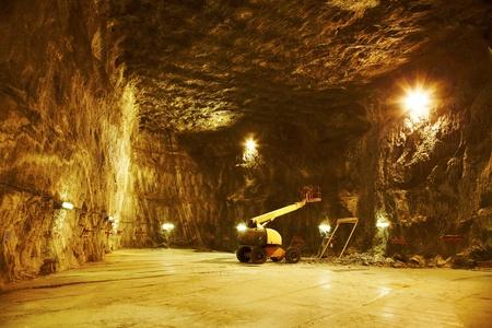 Arbeiten für die Erweiterung des Salzstocks für die Öffentlichkeit zugänglich zu Praid, Rumänien. Lizenzfreie Bilder