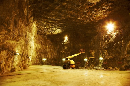 Works for the enlargement of the salt mine open for public at Praid, Romania.