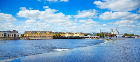 Panorama of Athlone city and the Shannon river in summer, Co. Westmeath, Ireland.