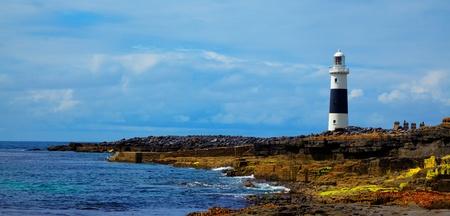 Inis Oirr (Inisheer) Lighthouse on Inisheer island, Ireland.