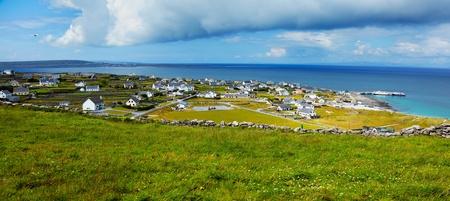 Panoramic landscape of Inisheer Island, part of Aran Islands, Ireland. photo