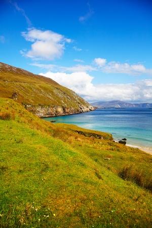 Küste bei Keem Bay auf Achill Island, im Sommer, Irland.