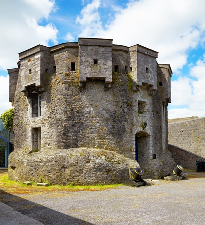 county meath: Athlone castle in summer, Co. Westmeath, Ireland. Stock Photo