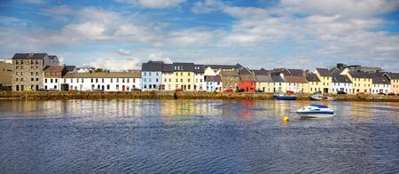 Panorama des Claddagh in Galway, Irland. Lizenzfreie Bilder