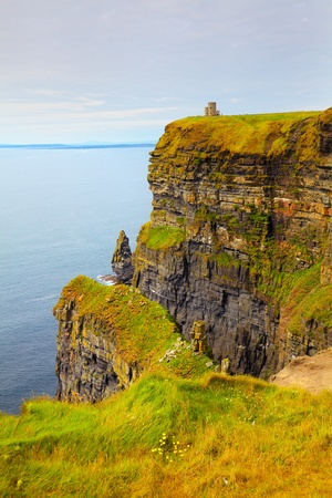 moher: Beautiful dusk landscape of Cliffs of Moher in summer, Ireland.