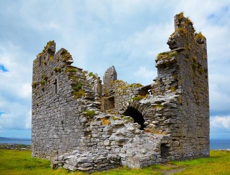 Exterior of OBriens Castle on Inisheer Island, Ireland.