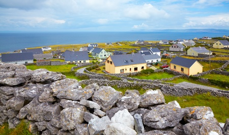 inisheer: Panoramic landscape of Inisheer Island, part of Aran Islands, Ireland.