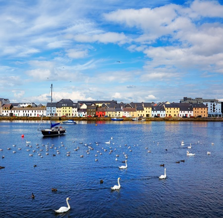 The Claddagh in Galway city during summertime, Ireland. Stock Photo