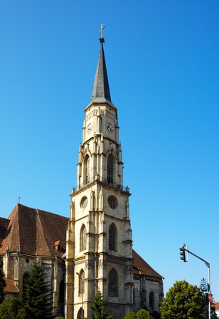 cluj: Tower of St. Michael catholic cathedral in Cluj Napoca, Romania.