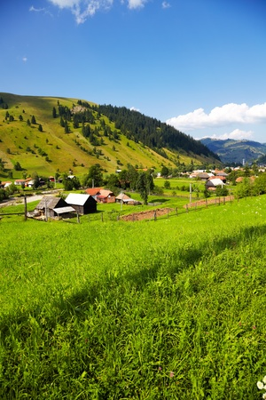 Beautiful summer landscape in the countryside of Romania  Stock Photo - 12953905
