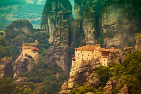 Roussanou Monastery at Meteora Monasteries in Trikala region, Greece. Stock Photo - 14047186
