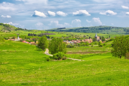 Landscape in the transylvanian countryside in the village of Soars, Romania. Stock Photo - 17095435