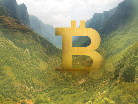 bitcoin sign in the valley, the giant crypto, Invincible coin