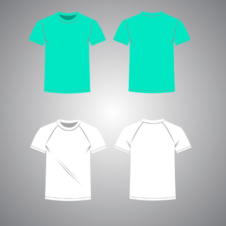 Mens T-shirt set front and back view