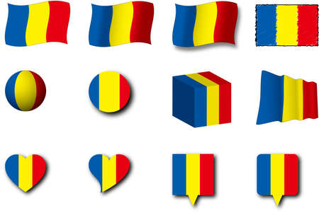 The romanian flag was designed in various ways.
