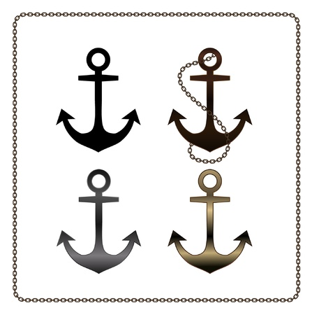 vector metal anchor Illustration