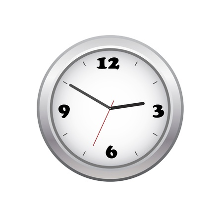 vector clock isolated on white Illustration