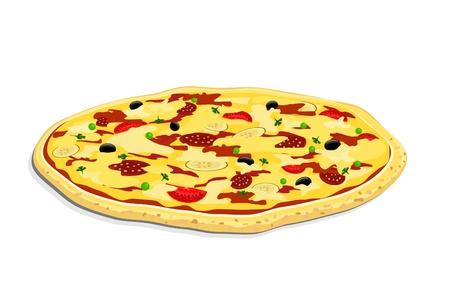 lasagna: vector pizza on white backgrpund Illustration