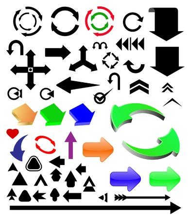 arow: vector different color arrows set
