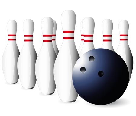 vector bowling skittles and  ball Stock Vector - 21447539