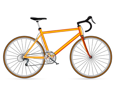 road bike: vector yellow race road bike