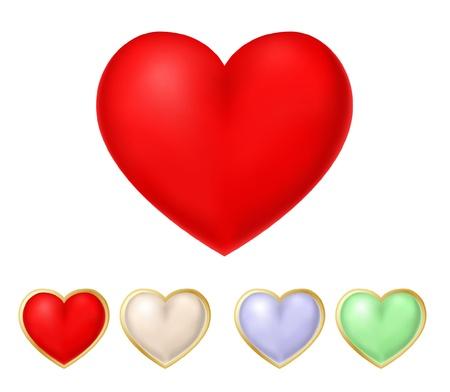 vector rood hart