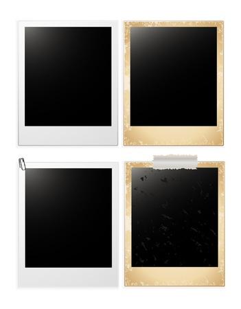 blanc: vectoriales blanc tarjetas photo conjunto