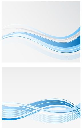 business wave background Illustration
