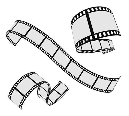 movie film: vector film strip set