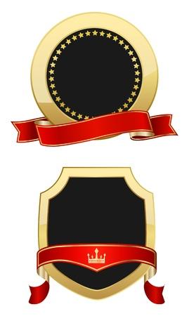 gold shields Illustration