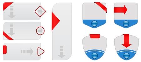 web cards set Illustration