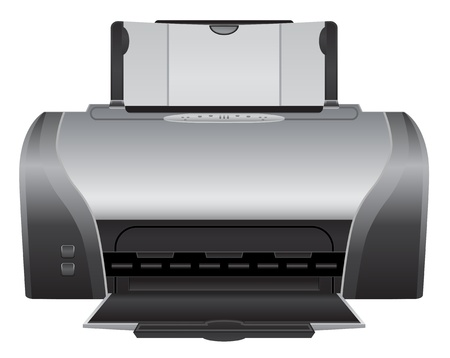 printer - realistic icon Çizim