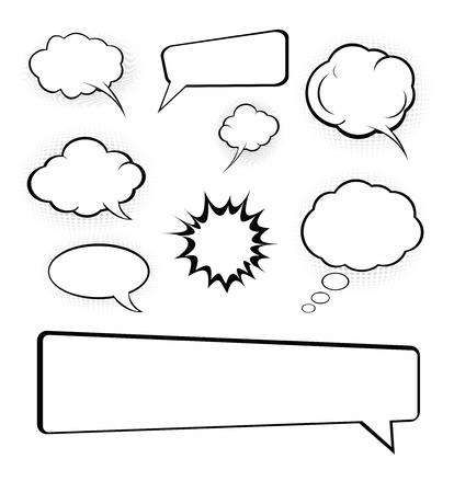 Cartoon tekst ballonnen  Stock Illustratie