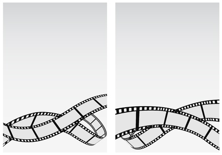 film strip: film reel business background