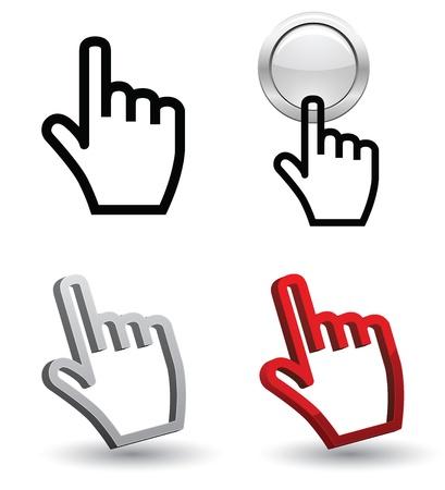 hand cursor 3d vector design Vector