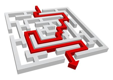 labyrinth - maze 3d concept