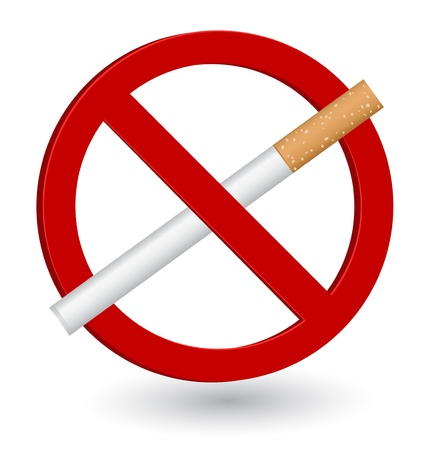 prohibido fumar: Muestra de no fumadores del icono 3d