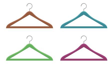coat rack: hanger icon Illustration