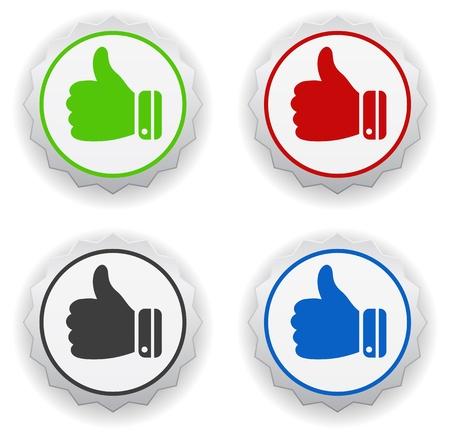 thumbs up - ik hou pictogram