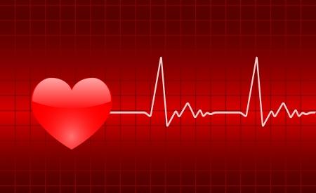 heart graph Vector
