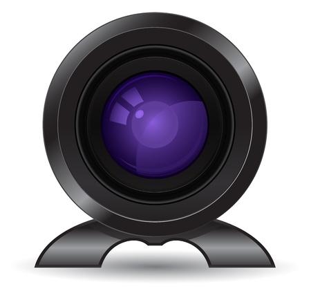 lense: photo camera lense icon Illustration