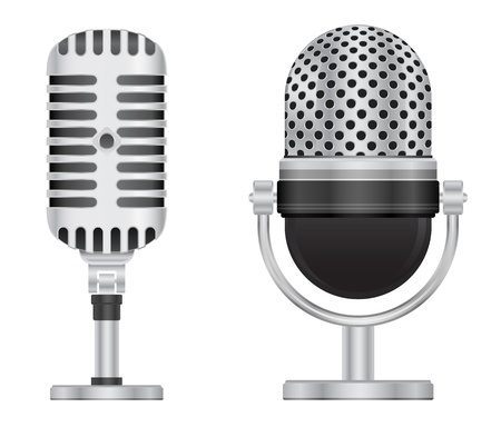 retro microphone icon Illustration
