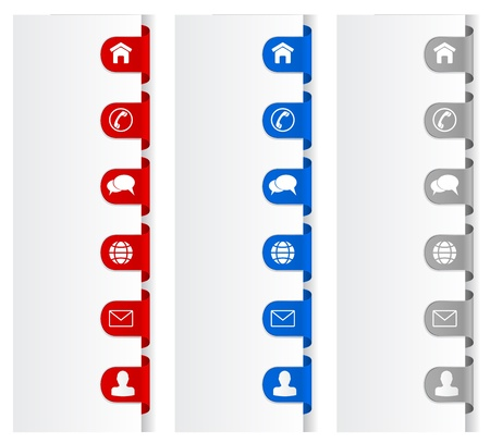 email us: Contattaci icons set - telefono, email, busta; chiacchierare; casa