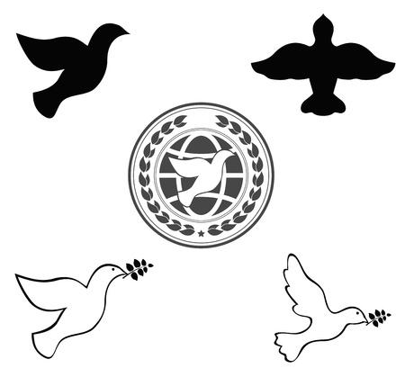 peace dove: dove symbol emblem