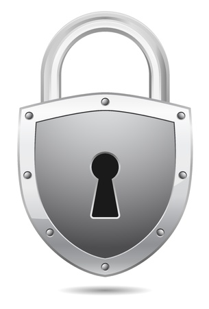 vector padlock icon shield