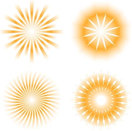 sunburst: sun - sunbeam pattern icon Illustration