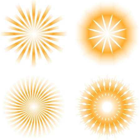 zon - zonnestraal patroon pictogram Stock Illustratie