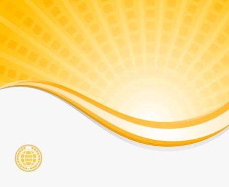 business backgound - sunbeam template Ilustracja
