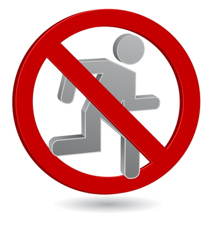 no entry sign: no entry - stop sign person icon 3d Illustration