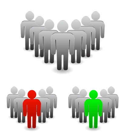 3d leadership - person leader icon Illustration